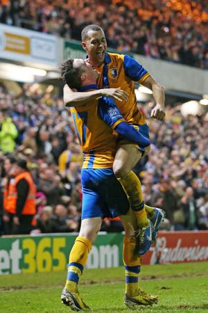 Mansfield Town v Liverpool celebration