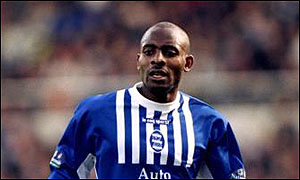 Adebola during his time with Birmingham City, who signed him for £1m