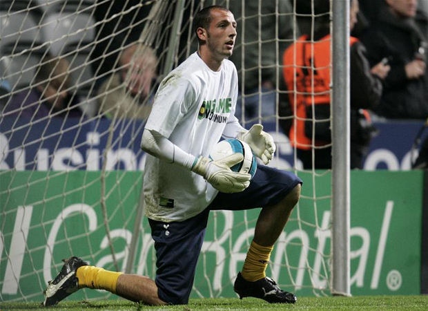 Forecast warming up during his Tottenham days