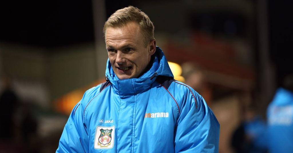 Wrexham manager Dean Keates,