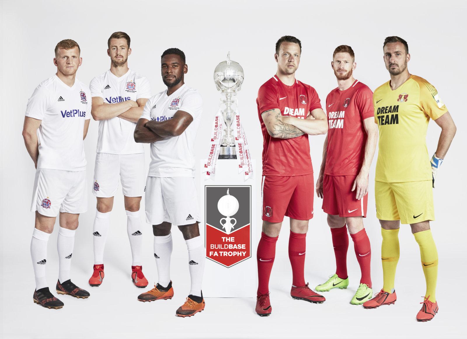 AFC Flyde vs Leyton Orient FC FA Trophée Final 2019 écharpe-bleu marine//rouge-Neuf