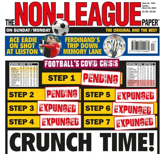 Non-League coronavirus NLP